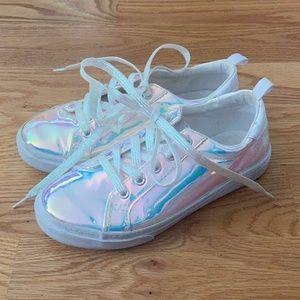 Gymboree Girls Iridescent Sneakers (2)